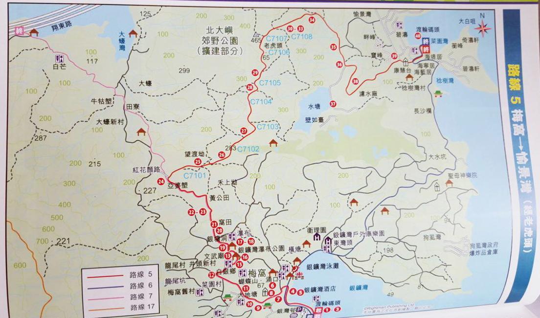 行山路线图